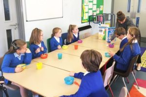 Children at Derwent Primary School's breakfast club