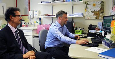Left to Right: Prof. Ahmet Fuat, Steve McClary Head of Development